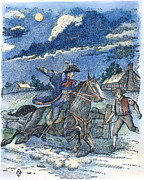 1775 Art - Paul Reveres Ride by Granger