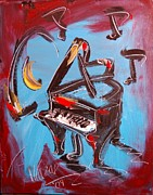Europe Posters Paintings - Piano by Mark Kazav