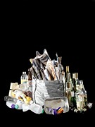 Cartons Posters - Recyclable Household Waste Poster by Tek Image