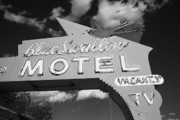 Americana Art Posters - Route 66 - Blue Swallow Motel Poster by Frank Romeo