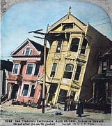 Powerline Posters - San Francisco Earthquake Poster by Granger