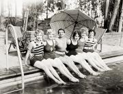 Bathing Photos - Silent Still: Bathers by Granger