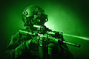 Eyesight Posters - Special Operations Forces Soldier Poster by Tom Weber