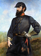 Confederate Army Framed Prints - Stonewall Jackson Framed Print by Granger