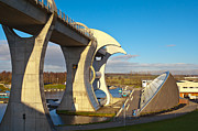 Lock Framed Prints Prints - The Falkirk Wheel Print by Gary Finnigan