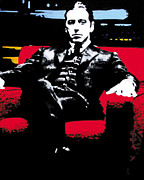 Al Pacino Painting Acrylic Prints - The Godfather Acrylic Print by Luis Ludzska