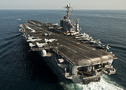 On The Runway Photos - The Nimitz-class Aircraft Carrier Uss by Stocktrek Images