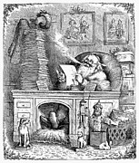 Smoker Framed Prints - Thomas Nast: Santa Claus Framed Print by Granger