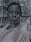 African American Man Drawings Prints - Untitled Print by Megan Wood