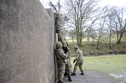 Training Prints - Welsh Guards Perform Basic Training Print by Andrew Chittock