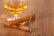 Cigar Prints - Whisky and cigars Print by Sabino Parente