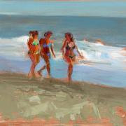 Summer Fun Painting Metal Prints - RCNpaintings.com Metal Print by Chris N Rohrbach