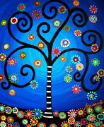 Cross-bar Framed Prints - Tree Of Life Framed Print by Pristine Cartera Turkus