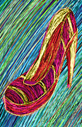 Kenal Louis Framed Prints - 80s High Heels Framed Print by Kenal Louis