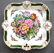 Green Color Ceramics - 814 Sevres fancy plate by Wilma Manhardt