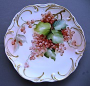 Orange Ceramics Originals - 854 Currant Plate by Wilma Manhardt