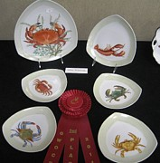 Shell Ceramics - 866 Crab Set I by Wilma Manhardt