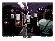 Nyc Posters Digital Art Metal Prints - 86th Street Metal Print by Kenneth De Tore