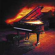 Grand Piano Framed Prints - 88 Grand Framed Print by Robert Hudnall