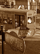 Ybor City Photos - 8th Ave Trolley by David Lee Thompson