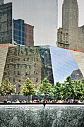 Women Children Photo Prints - 9/11 Memorial Print by Gwyn Newcombe