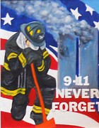 Firefighter Originals - 9-11 Never Forget by Olga Kaczmar