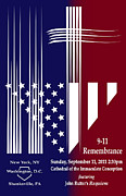 911 Digital Art Prints - 9-11 Rememberance Print by Jane Bucci