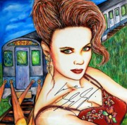Singer Mixed Media Originals - 9 2 5 Train by Joseph Lawrence Vasile