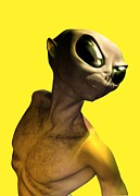 Paranormal Digital Art - Alien, Artwork by Victor Habbick Visions