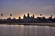 Buddhism Art - Angkor wat by MotHaiBaPhoto Prints