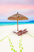 Daybed Posters - Beach Poster by MotHaiBaPhoto Prints
