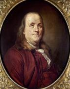 Colonial Man Framed Prints - Benjamin Franklin (1706-1790) Framed Print by Granger