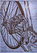 Lino Originals - Bike 3 by William Cauthern