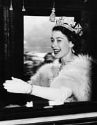Ev-in Metal Prints - British Royalty. Queen Elizabeth Ii Metal Print by Everett