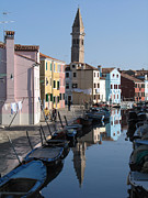 Canal Photos - Burano.VENICE by Bernard Jaubert