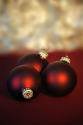 Holiday Decoration Prints - Christmas Ornaments Print by HD Connelly