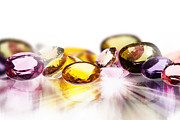 Bright Jewelry Acrylic Prints - Colorful Gems Acrylic Print by Setsiri Silapasuwanchai