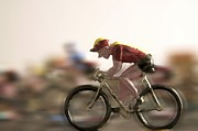 Blurriness Art - Cyclists by Bernard Jaubert