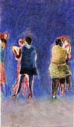 Ballroom Dance Paintings - Dancers by Bill Collins