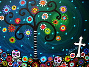 Religious Artist Paintings - Day Of The Dead by Pristine Cartera Turkus