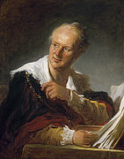 Fragonard Framed Prints - Denis Diderot (1713-1784) Framed Print by Granger
