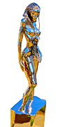 Steel Sculpture Posters - Evolution of Eve figure 4 Poster by Greg Coffelt