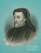 Ages Prints - Geoffrey Chaucer, Father Of English Print by Photo Researchers