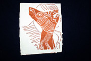 Uganda Tiles Ceramics Posters - Guardian Angel Poster by Gloria Ssali