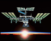 Manned Space Flight Art - International Space Station by Nasa