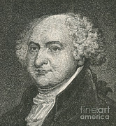 President Adams Prints - John Adams, 2nd American President Print by Photo Researchers