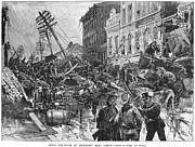 Police Officer Metal Prints - Johnstown Flood, 1889 Metal Print by Granger