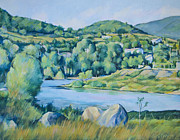 River View Paintings - Landscape by Stoiko Donev