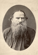 1880s Framed Prints - Leo Tolstoy (1828-1910) Framed Print by Granger