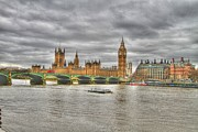 City Hall Prints - London  Skyline Big Ben Print by David French